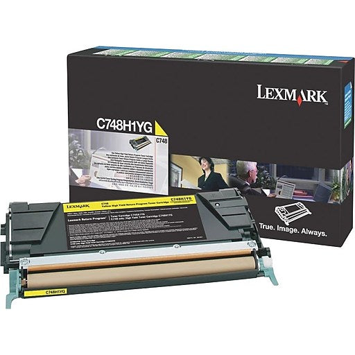 Lexmark C748H1YG High Yield Yellow Return Program Cartridge Toner