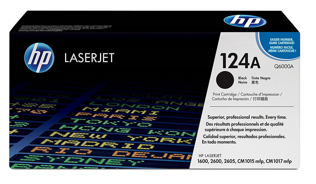 HP (124A) Q6000A Standard Yield Black LaserJet Toner Cartridge