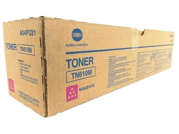 Konica Minolta A04P331 High Yield Magenta Toner Cartridge (TN610M, TN-610M)