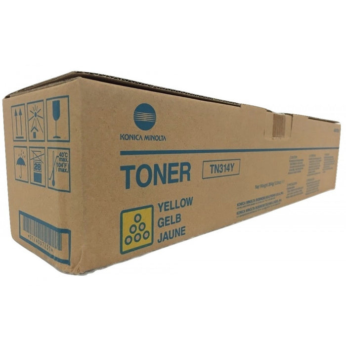 Konica Minolta A0D7231 High Yield Standard Yield Yellow Toner Cartridge  (TN-314Y, TN314Y)