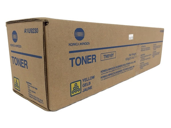 Konica Minolta A1U9230 Yellow Toner Cartridge (TN616Y, TN-616Y)