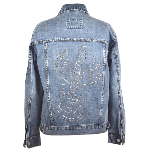 Swarovski® Guitar Denim Jacket