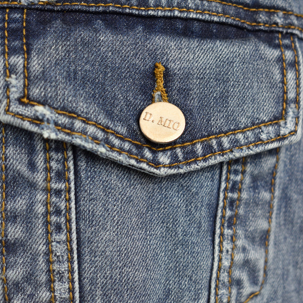 Limited Edition Swarovski® Peace Denim Jacket - DISEGNO MIO