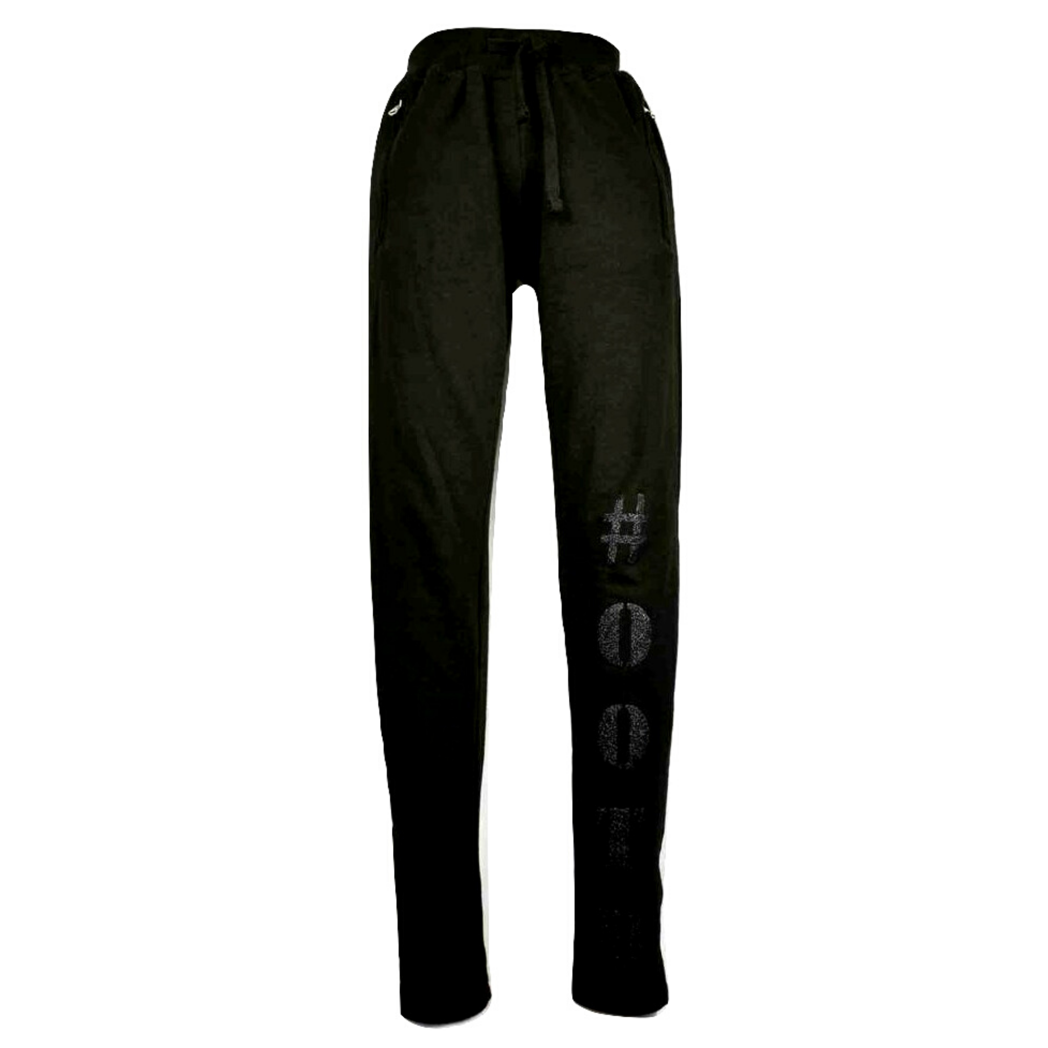 Limited Edition Black #OOTD Track Pants - DISEGNO MIO