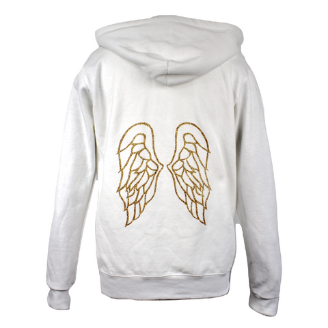 Limited Edition Wings White Hoody - DISEGNO MIO