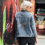 Disegno Mio Women's Limited Edition Swarovski® Bee Denim Jacket