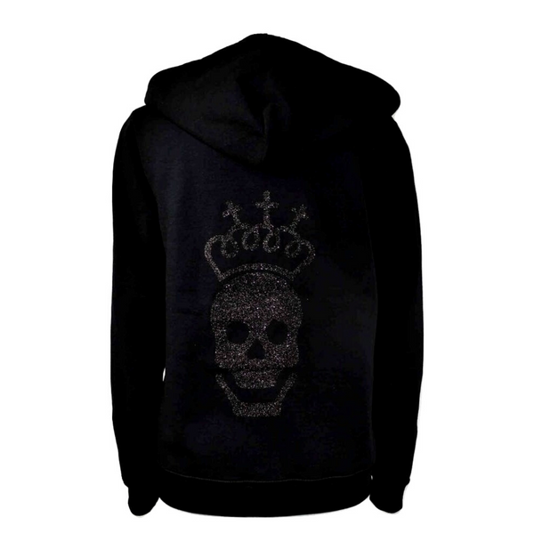Limited Edition Black Skull Hoody - DISEGNO MIO