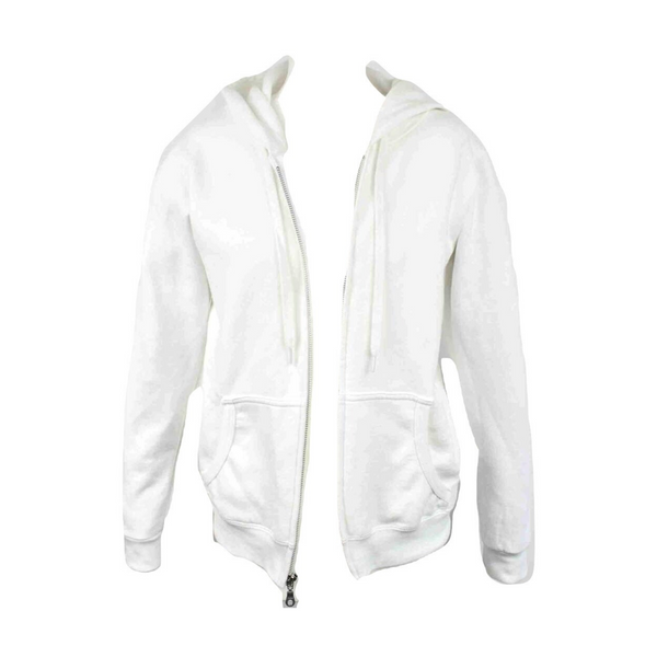 Limited Edition Cross & Wings White Hoody - DISEGNO MIO