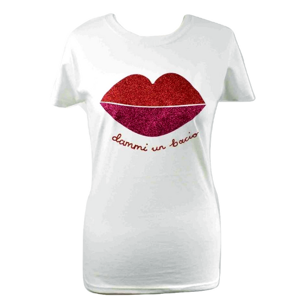 Limited Edition Lips White T-shirt - DISEGNO MIO