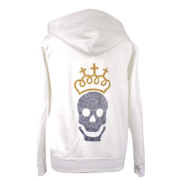 Limited Edition Skull White Hoody - DISEGNO MIO