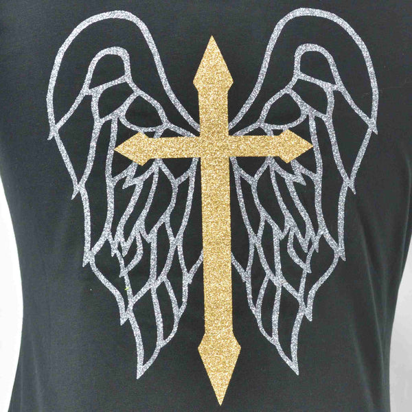 Limited Edition Cross & Wings Black Tank - DISEGNO MIO
