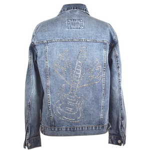 Limited Edition Swarovski® Guitar Denim Jacket - DISEGNO MIO