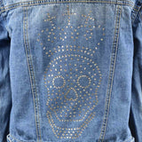Disegno Mio Women's Limited Edition Swarovski® Crystal Skull Denim Jacket