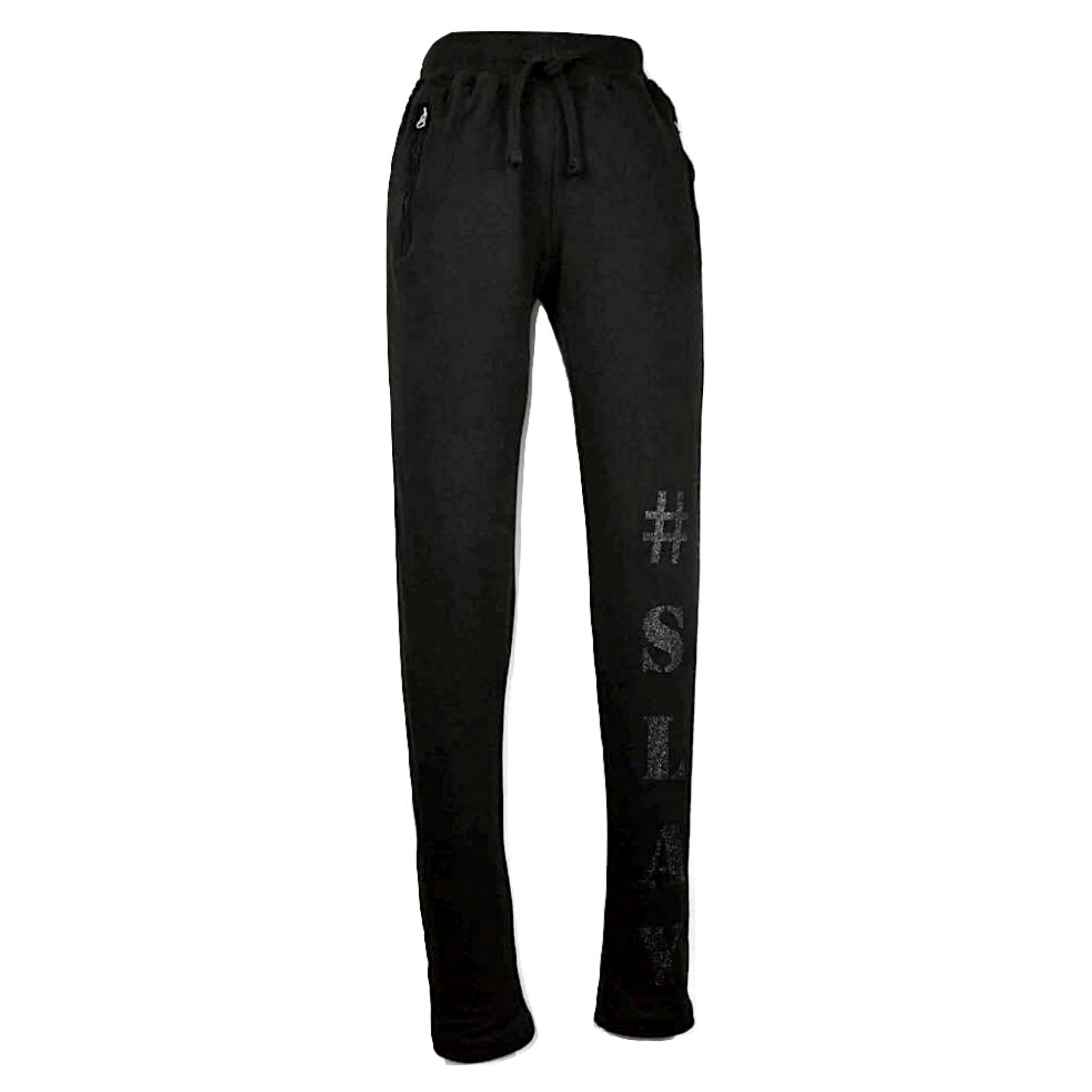 Limited Edition Black #SLAY Track Pants - DISEGNO MIO