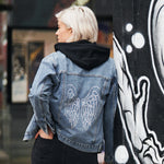 Disegno Mio Women's Limited Edition Swarovski® Wings Denim Jacket