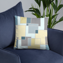 Load image into Gallery viewer, Decorative pillows,  Home decor, sky blue yellow pillows 18x18