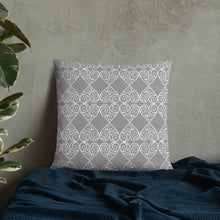 Load image into Gallery viewer, Grey and White  Decorative Pillow