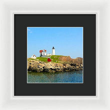 Load image into Gallery viewer, Maine Light House - Framed Print