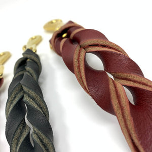 hand braided leather leashes