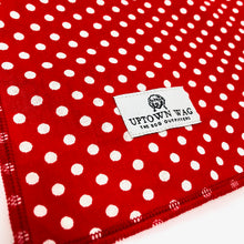 dog polka dot bandana red