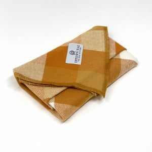 butterscotch fall plaid dog bandana
