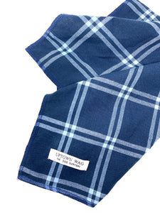 Azure Flannel Dog Bandana