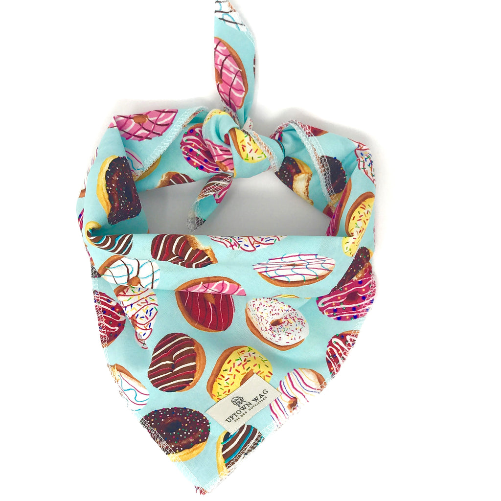 Birthday Donut Print Dog Bandana