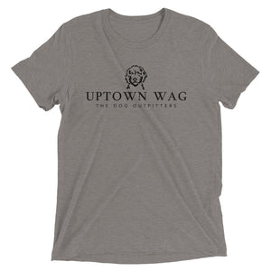 Uptown Wag Shirt, Kelsey Mundfrom, Dog Mom Apparel, Heather Gray