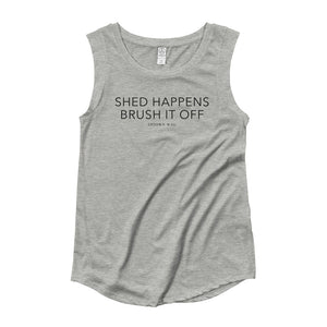 'Shed Happens' Gray Tank