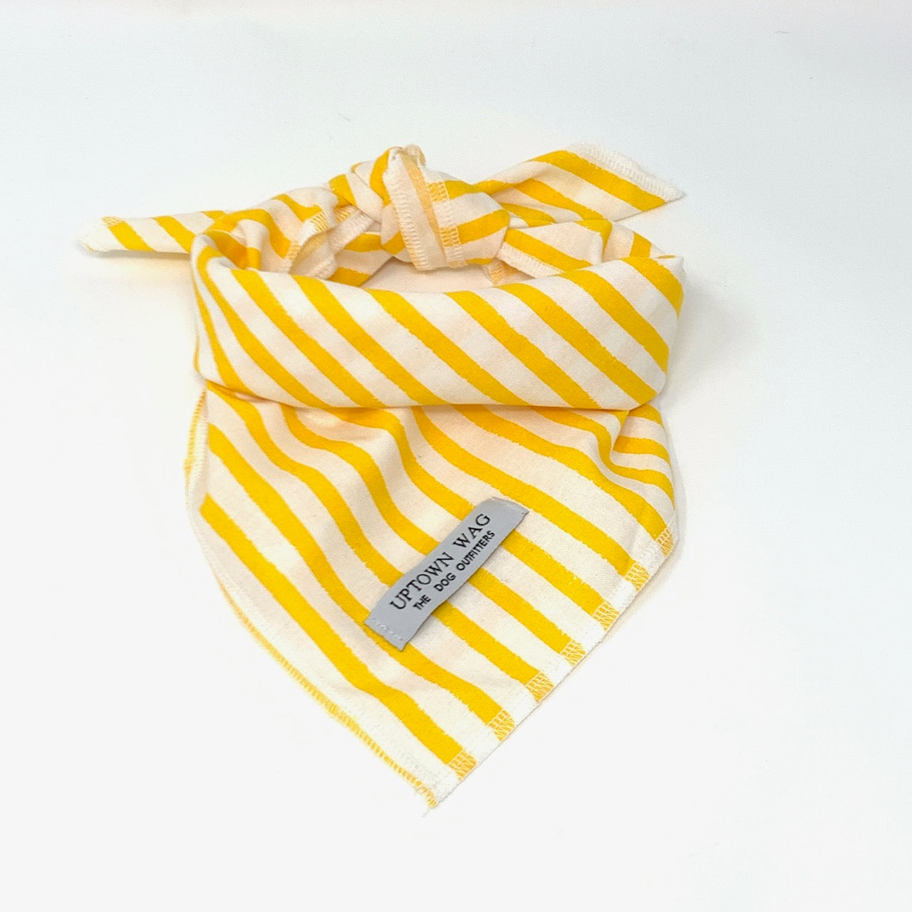yellow stripe dog bandana