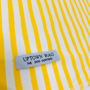 stripes yellow dog bandana