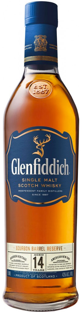 Glenfiddich 14 Year Bourbon Barrel Reserve Single Malt Scotch Whisky