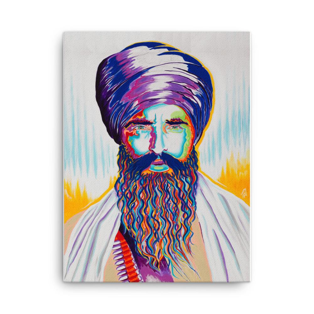 ART - SANT JARNAIL SINGH BHINDRANWALE FULL - COLOR CANVAS