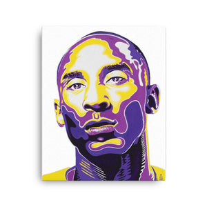 ART - KOBE BRYANT - WHITE CANVAS