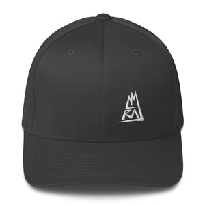 AMRAJ - WHITE LOGO - FLEX FIT CAP