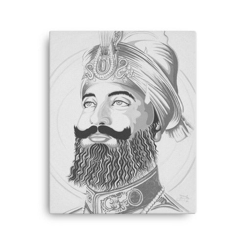 ART - SRI GURU GOBIND SINGH JI - B&W - CANVAS