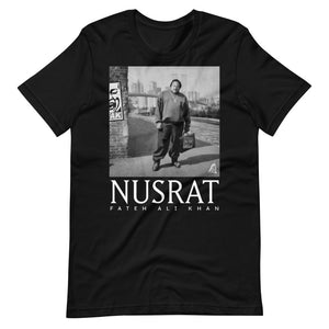 NFAK - NUSRAT FATEH ALI KHAN - NYC BIG CITY - BLACK TEE