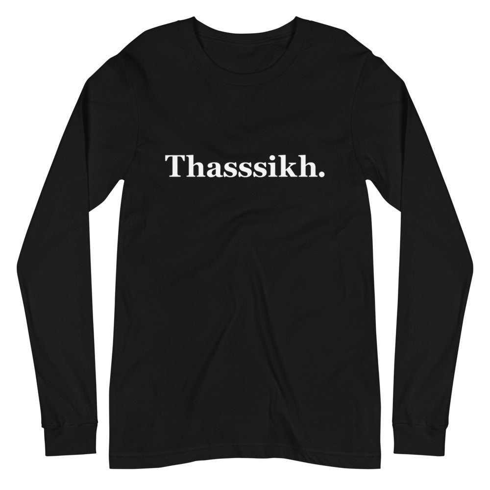 THASSSIKH - CLASSIKH - BLACK LONG SLEEVE