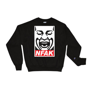 NFAK - NUSRAT FATEH ALI KHAN - ICON CHAMPION - BLACK CREWNECK