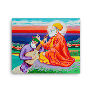 ART - SRI GURU NANAK DEV JI & BHAI MARDANA JI - CANVAS