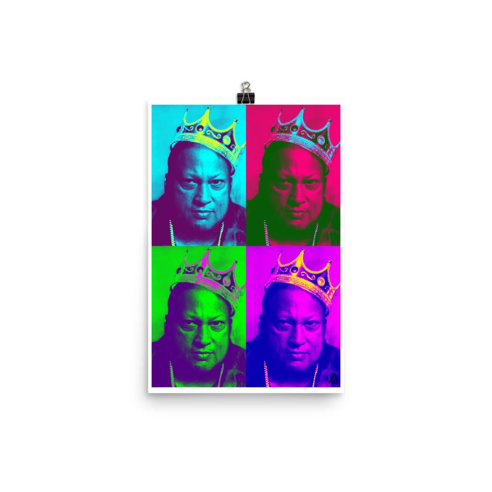 POSTER - NUSRAT FATEH ALI KHAN - KING KHAN BIG POP ART