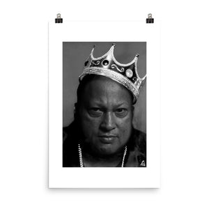 POSTER - KING OF QAWWALI - FINE ART PAPER
