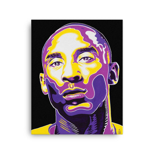 ART - KOBE BRYANT - BLACK CANVAS