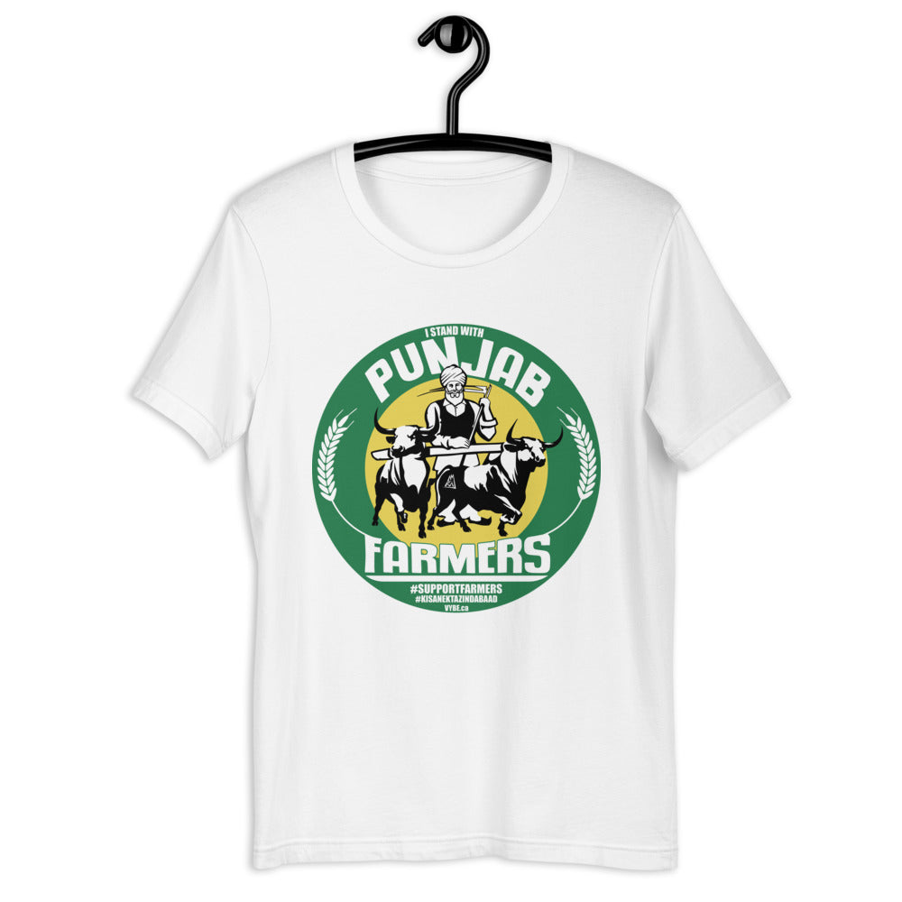 PUNJAB FARMERS COLOR - WHITE TEE