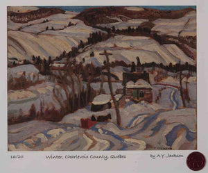 Winter, Charlevoix County, Quebec (apx 1932) A.Y. Jackson Short Run Print