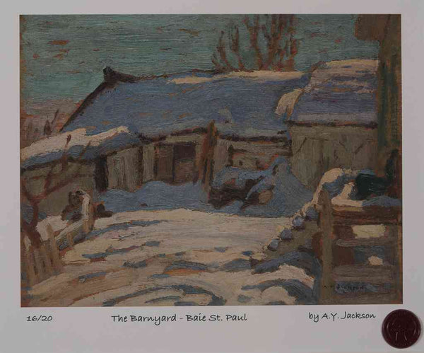 The Barnyard, Baie St. Paul 1922 A.Y. Jackson Short Run Print