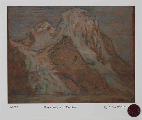 Evening, Mt. Robson August 1914 A.Y. Jackson Short Run Print