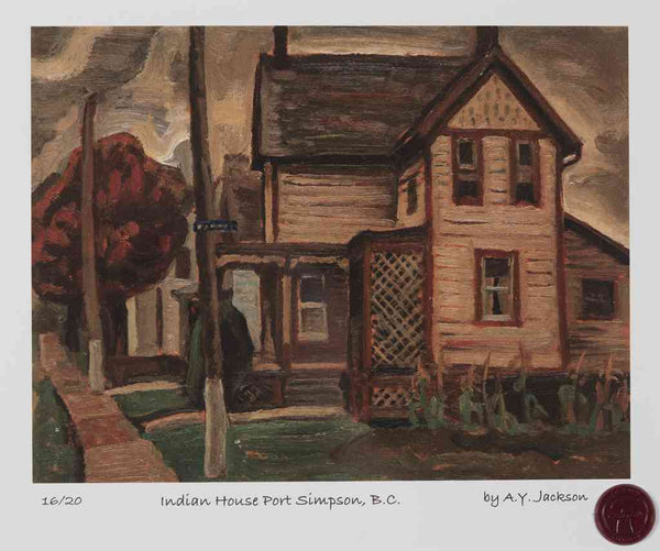 Indian House, Port Simpson 1925 A.Y. Jackson Short Run Print