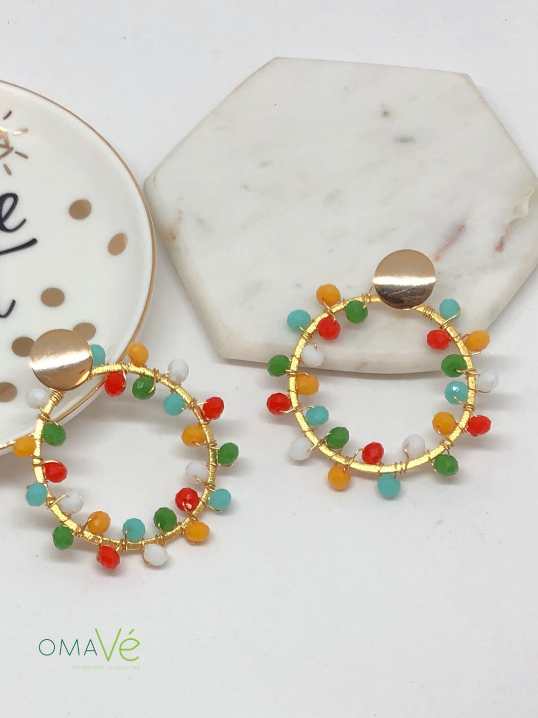 Ruth Earrings Colorful