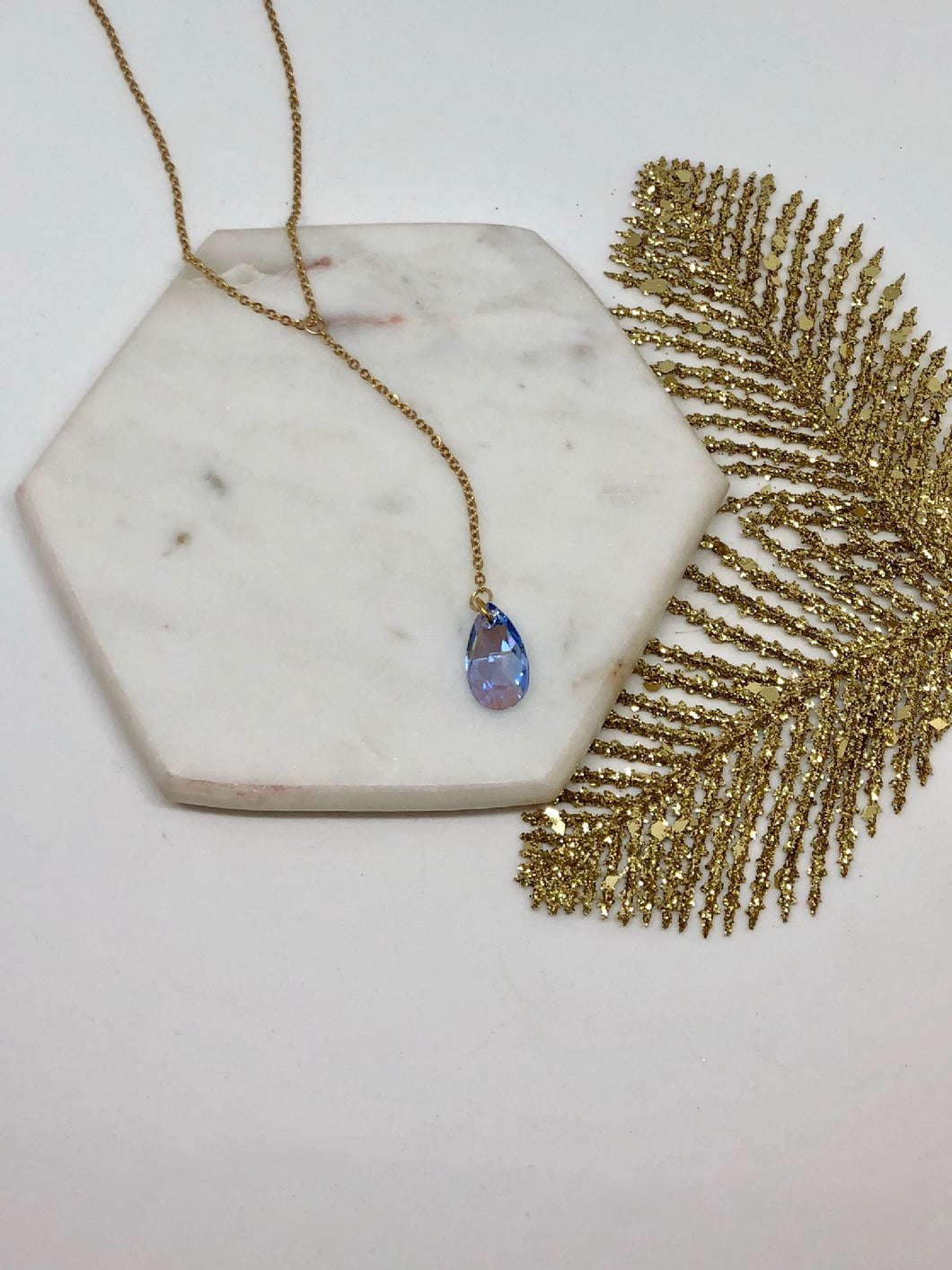 Light Blue Lariat